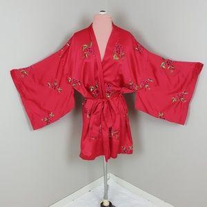 Victoria's Secret Vintage Embroidered Rose Kimono